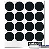 Cohas Chalkboard Labels for Libbey 4.5 Ounce Glass Spice Jars includes Liquid Chalk Marker and 48 Labels, Fine Tip, White Marker