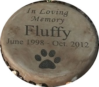 Cat Memorial Garden (Personalized Engraved Pet Memorial Step Stone 7.5