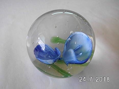 3 Stück Paperweight Briefbeschwerer Glas Kugel 7cm