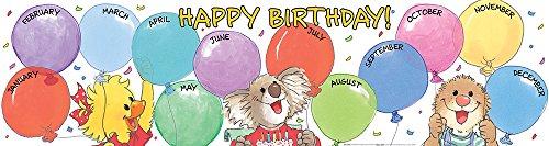 Eureka Suzy's Zoo Birthday Banner, Horizontal (849727)