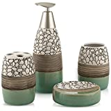 Ceramic Bathroom Accessories Set Bath Gift Set Including Soap Dish Tumbler Soap Box Toothbrush Holder