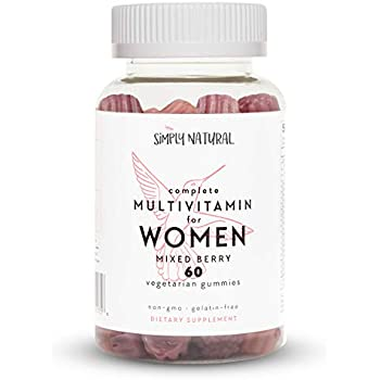 Gummy Vitamins for Women, Non-GMO, Vegetarian-Friendly Daily Multivitamins with Biotin for Hair, Skin and Nails, 60 Count (30 Day Supply)