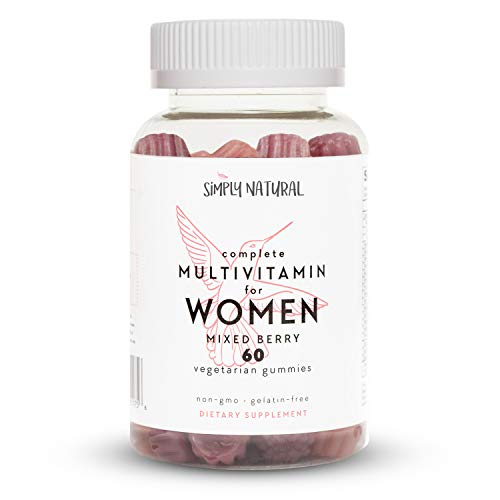 Simply Natural Women's Complete Gummy Vitamins, Non-GMO, Chewable Adult Daily Multivitamins, Vegetarian-Friendly Pectin, 60 Count (30 Day Supply) (Best Gummy Vitamins For Women)