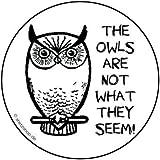 The owls are not what they seem Aufkleber Autoaufkleber Sticker Vinylaufkleber Decal