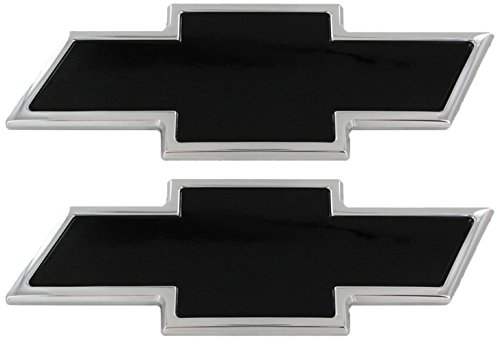 Ami 96127kp Chevy Bowtie Grille Tailgate Emblem Polished Black Powder Coat 2 Pack
