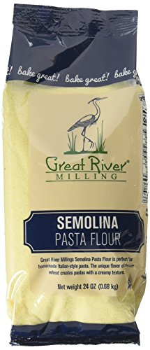 Great River Milling Semolina Pasta Flour, 24 Ounce (Pack of 4)