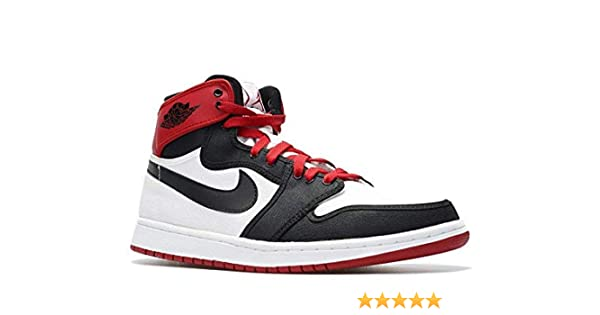 online store 9b3e1 fdb0a Amazon.com   Nike Mens Air Jordan 1 Retro KO High Black Toe Canvas  Basketball Shoes   Basketball