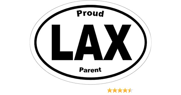 Lax Bumper Sticker Perfect Sports Coach Player Gift WickedGoodz Oval Vinyl Blue Lacrosse Coach Decal
