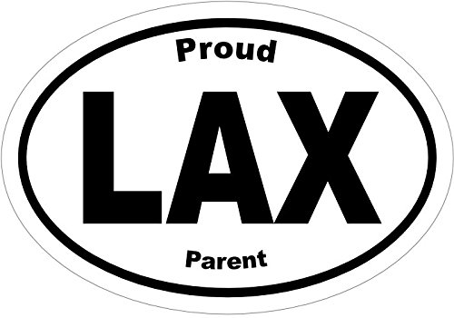 WickedGoodz Oval Proud LAX Parent Vinyl Decal Lacrosse Bumper Sticker Perfect Lacrosse Player or Coach Gift