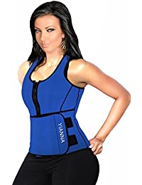 14056d8e4 Sweat Neoprene Sauna Suit Tank Top Vest with Adjustable Shaper Waist  Trainer Belt