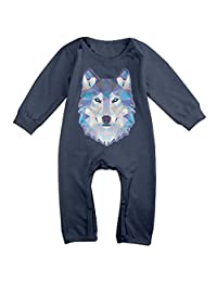 Cool Wolf Romper,6-24 Month Toddler Onesie,infant Bodysuit Long Sleeve