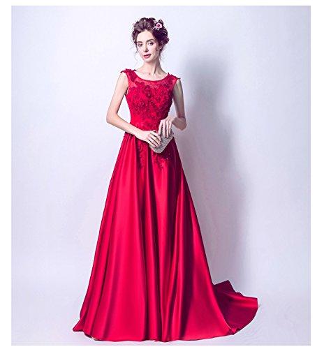 適用するスカウト意識赤い ウェディングドレス/ セクシーな ドレス / プリンセス イブニングドレス / 結婚式 二次会 パーティードレス/ レッド ワンピース / ぜいたく ドレス