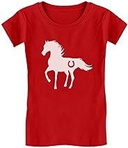 Gift for Horse Lover - Love Horses Girls' Fitted Kids T-S