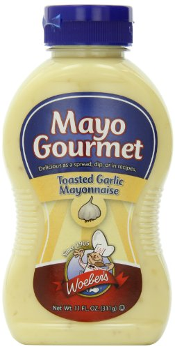 - Woebers Mayonnaise, Toasted Garlic, 11 Ounce