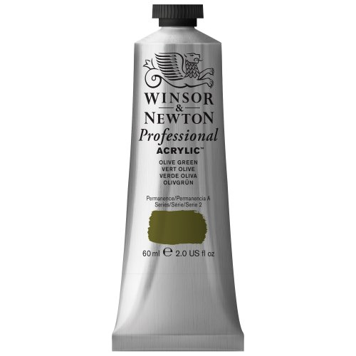 Winsor & Newton Professional Acrylic Color Paint, 60ml Tube, Olive Green (Best Olive Green Paint Colors)
