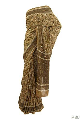 Mysore Saree Udyog Women's Saree with Blouse Silk Green