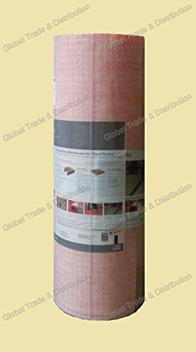 """Schluter Systems Ditra Membrane 10 Square Foot , 1/8"""" Underlayment Prevent Crack"""