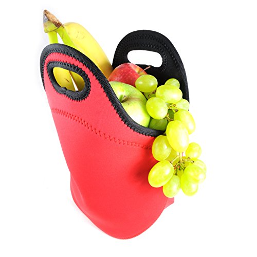 Cooling / Warming neoprene carry handle and insulated thermal &Bag for Outdoor Picnic Camping Lunch / Drink, Colour: Red / Black Ganzoo by Ganzoo