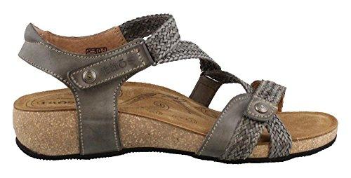 Taos Womens Trulie Sandalo Con Zeppa Grigio Scuro