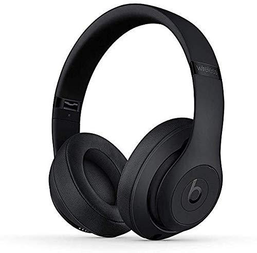 Beats Studio3 Wireless Headphones - Matte Black (Renewed) (Bluetooth Ear Gauges)