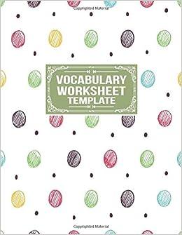 Amazon.com: Vocabulary Worksheet Template: Word Origin ...