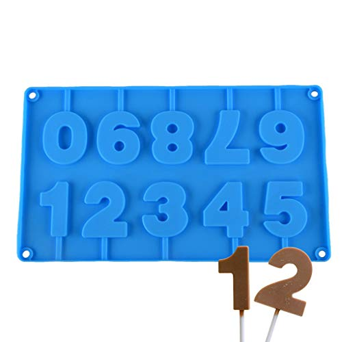 Inn Diary Number 0-9 3d Silicone Mold - Candy Mold,Cube Shell Molds,Cake Baking ()