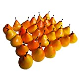 "30pcs Artificial Lifelike Simulation 1.3"" Mini Pears Fake Fruits Photography Props Model"
