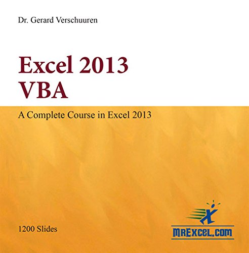 Excel 2013 VBA (Visual Training series) by Holy Macro! Books