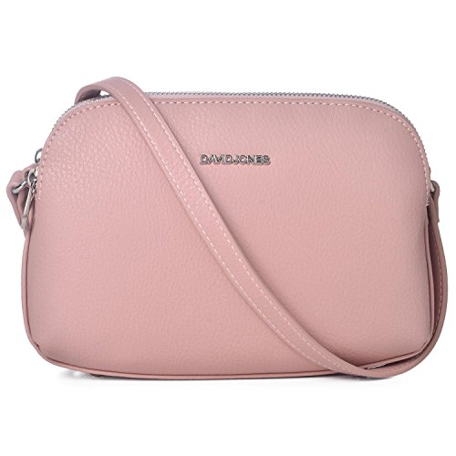 Pink Cross Body (DAVIDJONES Fashion Stylish Pink crossbody bags for women Travel Purse for women)