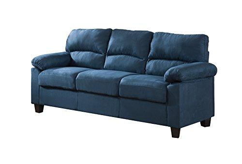 Pilaster Designs Blue Upholstered Microfiber Stationary Living Room Set (Chair, Loveseat, Sofa) by Pilaster Designs (Image #2)