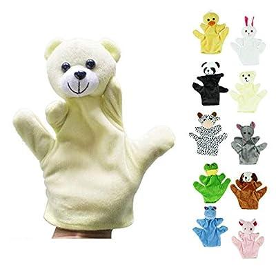 Fingerpuppen Dino Marionnette Bebe Sock Hand Glove Puppet Baby Child Zoo Farm Animal Hand Glove Puppet Finger Sack Plush Toy: Toys & Games