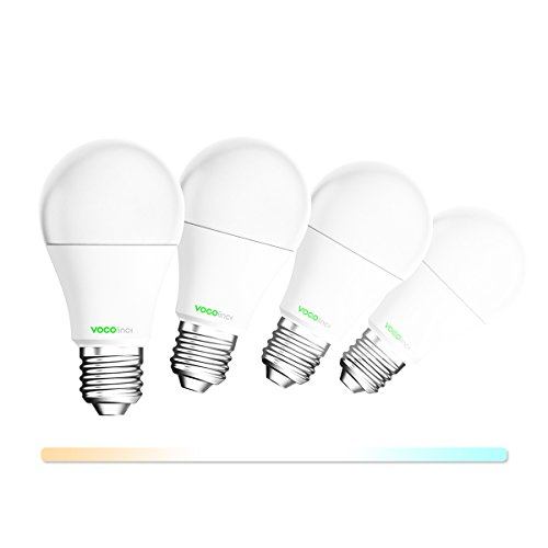 VOCOlinc L2 Smart LED Light Bulb (A19), 2200K-7000K Tunable Cool to Warm Whites, Adjustable, Dimmable, Works with Apple HomeKit, Alexa and Google Assistant, No hub required, Wi-Fi 2.4GHz (4 Pack) by VOCOlinc
