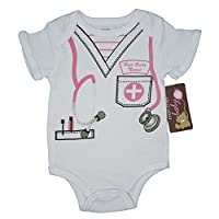 (3-6) The Nurse Funny Baby Girl Boy Unisex Infantil Una pieza Divertido Viste Body.