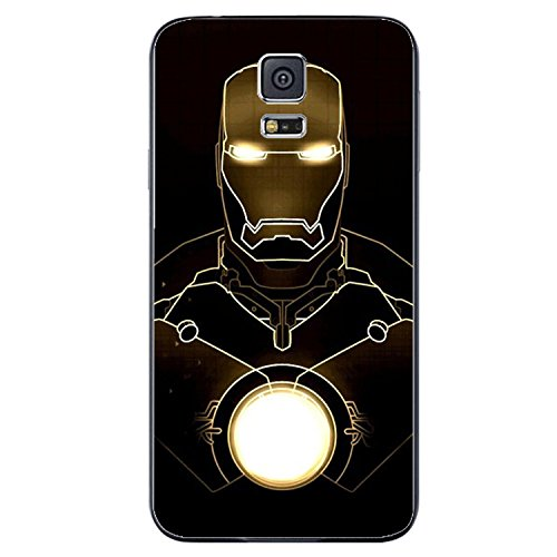 Iron Man the Avengers Marvel Hero for Iphone and Samsung Galaxy Case (samsung s5 black)