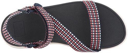 Glissière En Z-strap Fitflop Femme Sandale Neon Blush / Midnight Navy