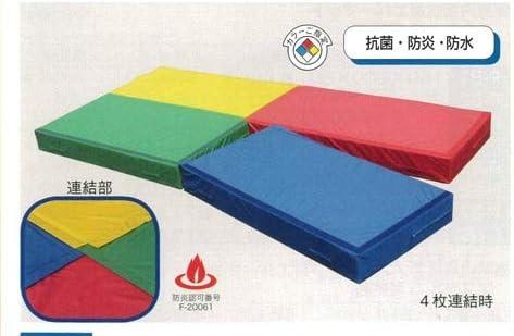 こども良品 新品 連結型ノンスリップソフトエバーマット 1枚 90×180×20cm 抗菌防炎防水 日本製 色をお選びください 赤or青or黄or緑 mat