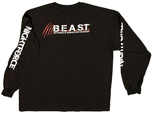 Long Sleeve T-shirt Beast (Nightforce BEAST T-Shirt Long Sleeve Cotton Black XL)