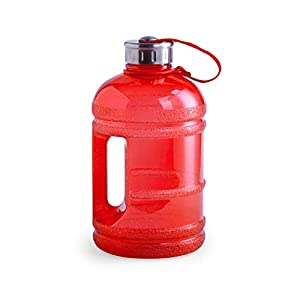 eBuyGB Large Extra Strong Durable 1.89 Litre Capacity Leakproof Sports Water Bottle Jug with Stainless Steel Screw-On Lid and Carry Handle 41SVh zKM3L