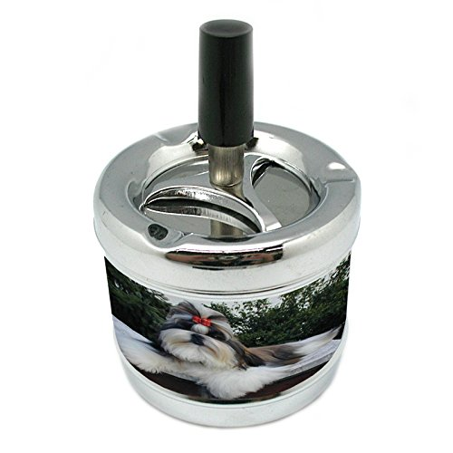 (Dog Shih Tzu Stylish Designer Spin Ashtray)