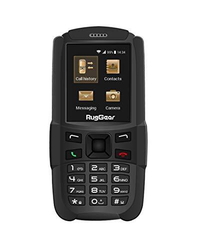 RugGear RG129, Unlocked Rugged Phone - Waterproof IP67 - Lightweight - GSM Quad Band (850/900/1800/1900Mhz)