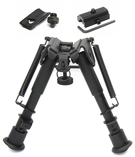JINSE 3 in 1 Tactical Bipod Adjustable with Picatinny and Swivel Stud Mount (Tactical Quad)