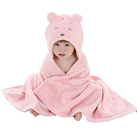 IFLIFE Baby Bathrobe Bath Towel Blanket Hooded Animal Cosplay Cloak (Duck)