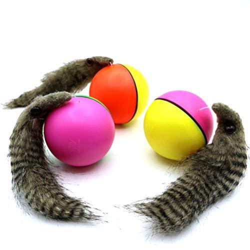 Egosy Lustiger elektrischer Biberball zum Rollen bewegender Baby Kinder Kinder Badespielzeug Katzen Spielzeug zufällige Farbe (B) (B)