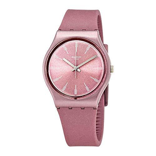 Swatch Pastelbaya GP154 Pink Silicone Swiss Quartz Fashion Watch ()