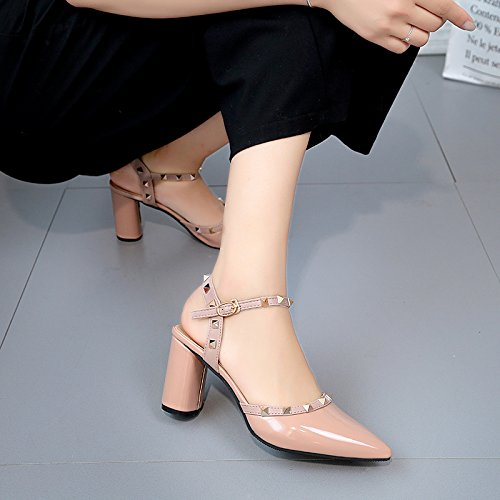 Moda Mujer verano sandalias confortables,33 tacones altos tacones 10.5cm blanco Khaki