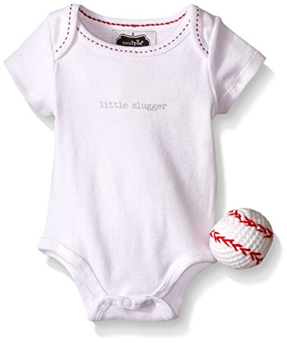 Pie Onesie (Mud Pie Baby Boy One Piece Crawler Bodysuit Set, Red, 0-3)