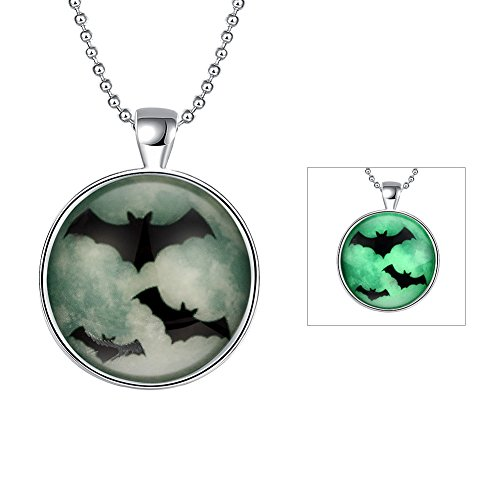 GoeSecret Noctilucent series Halloween series bats soaring night glow Necklace accessories wholesaler wholesale website factory direct sale YGN108-A (Glow Necklace Wholesale)