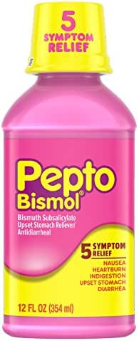 Pepto Bismol Digestive Medicine, Upset Stomach and Diarrhea Relief, 12 Fl Oz (Packaging May Vary)