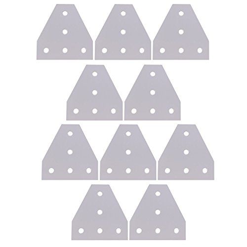 Mergorun,3D Printer Aluminum T Shaped 5 Hole 90x90x4mm Joining Plate for 3030 v-slot/T-slot Aluminum Extrusion Pack of 10 by Mergorun (Image #7)