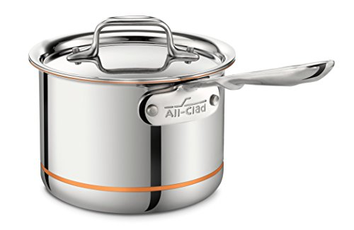 All-Clad 6202 SS Copper Core 5-Ply Bonded Dishwasher Safe Saucepan / Cookware, 2-Quart, Silver by All-Clad
